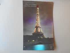 PARIS EXPOSITION DES ARTS DECORATIFS LA TOUR EIFFEL VUE DE NUIT CITROEN - Tentoonstellingen