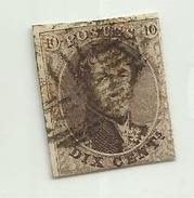 (10) Timbre Belgique Roi Léopold I Médaillon 10c - 1849-1850 Médaillons (3/5)