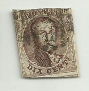 (16) Timbre Belgique Roi Léopold I Médaillon 10c - 1849-1850 Médaillons (3/5)