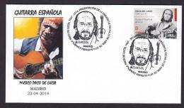 SPAIN ESPAGNE 2014 EUROPA. MUSICAL INSTRUMENTS. GUITAR. MUSIC GUITARRA PACO DE LUCIA MUSICIAN - Música