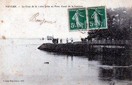 NEVERS: La Crue De La Loire Prise Au Pont .Canal De Jonction - Nevers