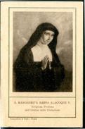 SANTINO - S.Margherita Maria Alacoque V. - Santino Antico Con Preghiera Come Da Scansione. - Devotion Images