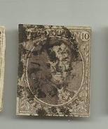 (47) Timbre Belgique Roi Léopold I Médaillon 10c
