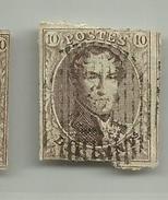 (48) Timbre Belgique Roi Léopold I Médaillon 10c