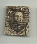 (50) Timbre Belgique Roi Léopold I Médaillon 10c