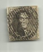 (51) Timbre Belgique Roi Léopold I Médaillon 10c