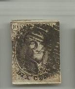 (53) Timbre Belgique Roi Léopold I Médaillon 10c