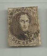 (55) Timbre Belgique Roi Léopold I Médaillon 10c