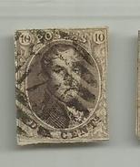 (56) Timbre Belgique Roi Léopold I Médaillon 10c