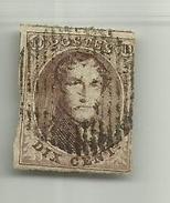 (58) Timbre Belgique Roi Léopold I Médaillon 10c