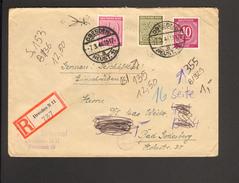 SBZ West-Sachsen 30 U.40 Pfg.Ziffer U.a. Auf Einschreiben-Ferndoppelbrief Aus Dresden N 11 Von 1946 Ankunftstempel - Zone Soviétique