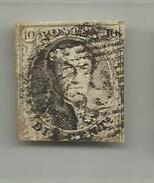 (60) Timbre Belgique Roi Léopold I Médaillon 10c