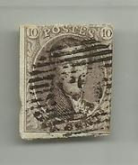 (61) Timbre Belgique Roi Léopold I Médaillon 10c