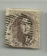 (62) Timbre Belgique Roi Léopold I Médaillon 10c