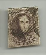 (63) Timbre Belgique Roi Léopold I Médaillon 10c - 1849-1850 Médaillons (3/5)