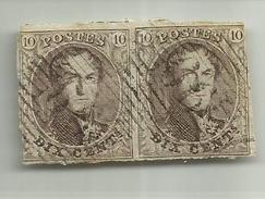 (64) Timbre Belgique Roi Léopold I Médaillon 10c