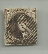 (66) Timbre Belgique Roi Léopold I Médaillon 10c