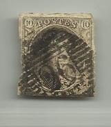 (67) Timbre Belgique Roi Léopold I Médaillon 10c