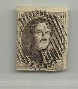 (68) Timbre Belgique Roi Léopold I Médaillon 10c