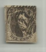 (69) Timbre Belgique Roi Léopold I Médaillon 10c