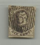 (71) Timbre Belgique Roi Léopold I Médaillon 10c