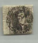 (72) Timbre Belgique Roi Léopold I Médaillon 10c