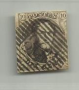 (73) Timbre Belgique Roi Léopold I Médaillon 10c