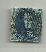(76) Timbre Belgique Roi Léopold I Médaillon 20c