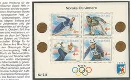 17 Norvege BF 12 XX MNH Jeux Olympiques Ski  Patinage Vitesse Saut Tir Lillehamer