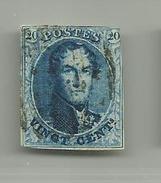 (78) Timbre Belgique Roi Léopold I Médaillon 20c