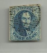 (79) Timbre Belgique Roi Léopold I Médaillon 20c