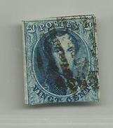 (80) Timbre Belgique Roi Léopold I Médaillon 20c