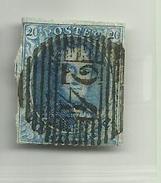 (83) Timbre Belgique Roi Léopold I Médaillon 20c - 1849-1850 Médaillons (3/5)