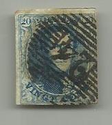 (84) Timbre Belgique Roi Léopold I Médaillon 20c - 1849-1850 Médaillons (3/5)