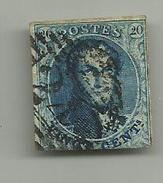 (85) Timbre Belgique Roi Léopold I Médaillon 20c