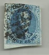 (86) Timbre Belgique Roi Léopold I Médaillon 20c
