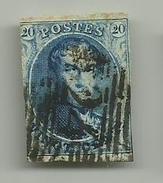 (87) Timbre Belgique Roi Léopold I Médaillon 20c