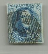 (90) Timbre Belgique Roi Léopold I Médaillon 20c