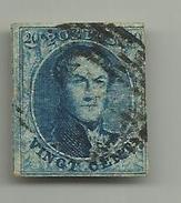 (91) Timbre Belgique Roi Léopold I Médaillon 20c