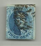 (92) Timbre Belgique Roi Léopold I Médaillon 20c