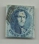 (93) Timbre Belgique Roi Léopold I Médaillon 20c