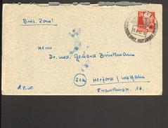 SBZ 24 Pfg.Köpfe Auf Fernbrief Aus Jena V.1950 M. Sonderstempel Schützt Unsere Ernte, Brände Verhüten - Soviet Zone