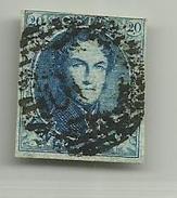 (94) Timbre Belgique Roi Léopold I Médaillon 20c