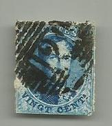 (95) Timbre Belgique Roi Léopold I Médaillon 20c