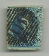 (97) Timbre Belgique Roi Léopold I Médaillon 20c