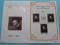 P.P. RUBENS Année Int. Rubens 1977 Int. Rubensjaar 1577 - 1977 FDC P. 514 ( Zie Foto´s Voor Details ) - Belgique
