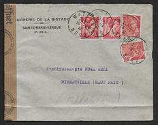 Lettre De  WATTEN Censurée - Marcophilie (Lettres)