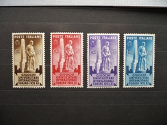 "FRANCOBOLLI  ITALIA REGNO: 1933 ""GIOCHI UNIVERSITARI TORINO"" Set. Mint - 1900-44 Victor Emmanuel III"