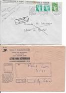 1981 - RETOUR à L'ENVOYEUR - ENVELOPPE De VICHY (ALLIER) OUVERTE Par Les PTT Dans ENVELOPPE Du CENTRE Des RECHERCHES - 1961-....