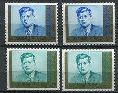 Sharjah ** Michel N° 466A - 474A - 478A - 486A - J.F. Kennedy - - Sharjah
